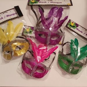 Set of 4 Brand New Masquerade Party Masks